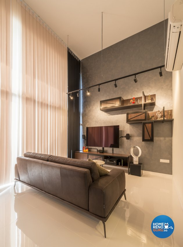 Industrial, Minimalist, Modern Design - Living Room - Condominium - Design by Posh Living Interior Design Pte Ltd
