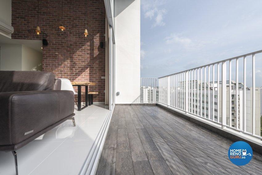 Industrial, Minimalist, Modern Design - Balcony - Condominium - Design by Posh Living Interior Design Pte Ltd