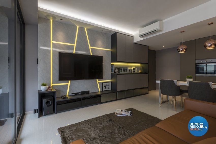 Classical, Contemporary, Victorian Design - Living Room - HDB Executive Apartment - Design by Posh Living Interior Design Pte Ltd