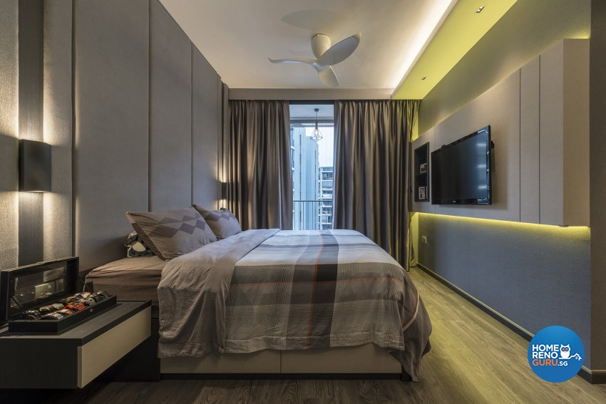 Classical, Contemporary, Victorian Design - Bedroom - HDB Executive Apartment - Design by Posh Living Interior Design Pte Ltd