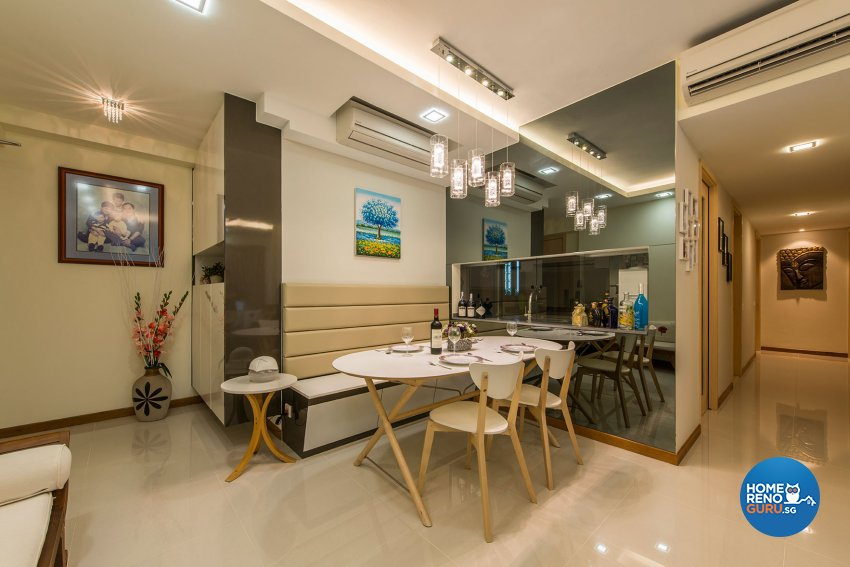 Contemporary, Modern, Resort Design - Dining Room - Condominium - Design by Posh Living Interior Design Pte Ltd