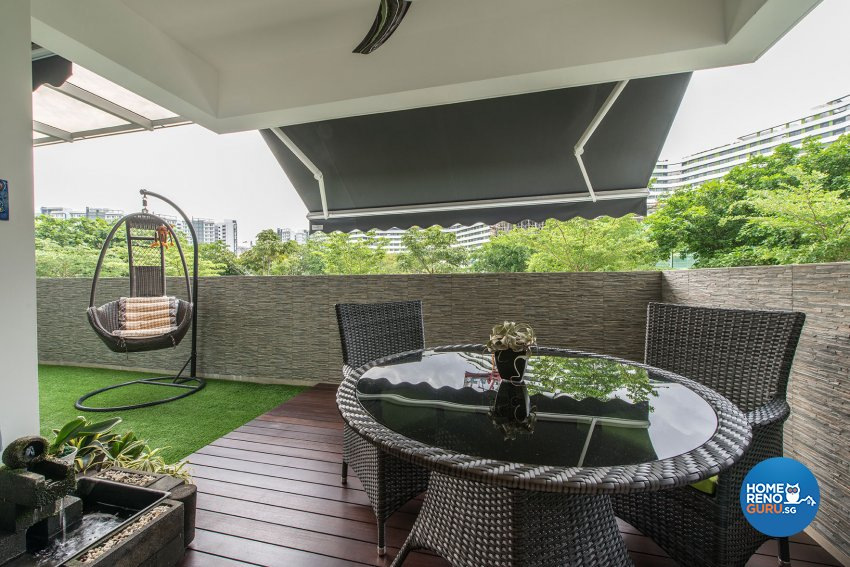 Contemporary, Modern, Resort Design - Balcony - Condominium - Design by Posh Living Interior Design Pte Ltd