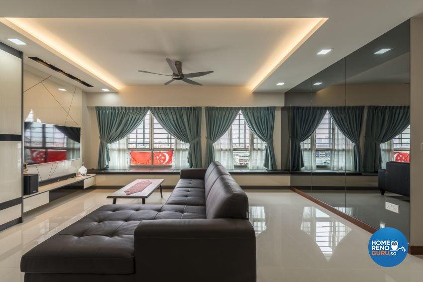 Minimalist, Modern Design - Living Room - HDB 5 Room - Design by Posh Living Interior Design Pte Ltd