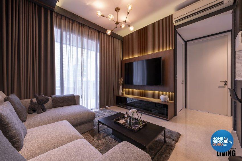 Contemporary, Modern, Resort Design - Living Room - Condominium - Design by Posh Living Interior Design Pte Ltd