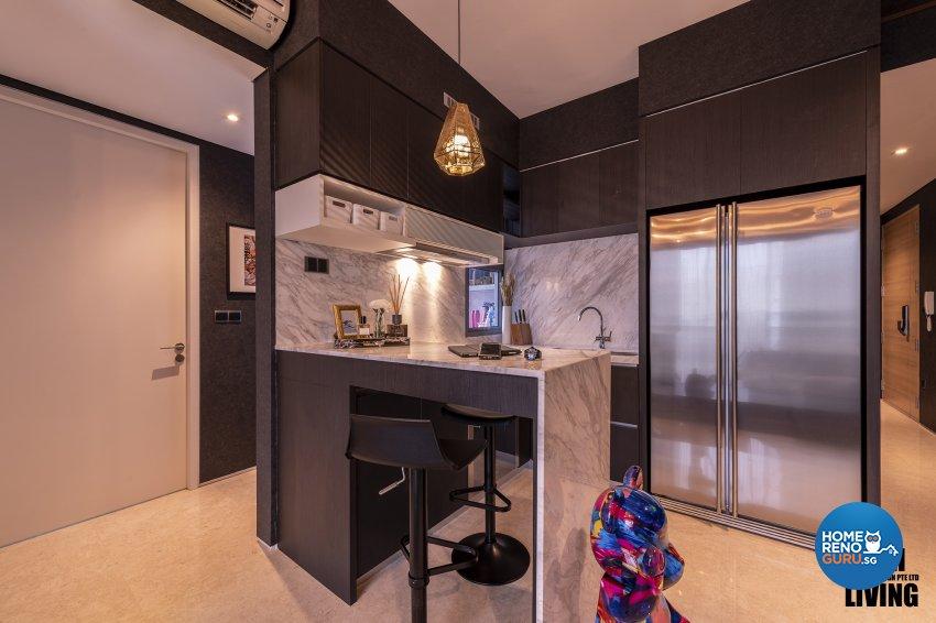Contemporary, Modern, Resort Design - Kitchen - Condominium - Design by Posh Living Interior Design Pte Ltd