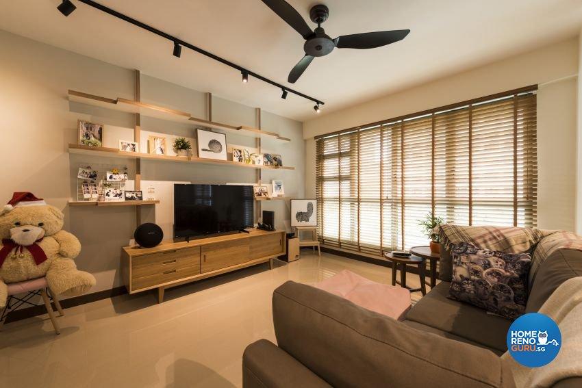 Modern, Scandinavian Design - Living Room - HDB 5 Room - Design by Posh Living Interior Design Pte Ltd