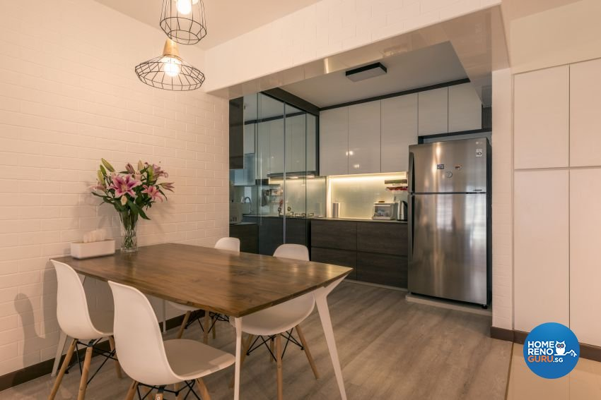 Modern, Scandinavian Design - Dining Room - HDB 5 Room - Design by Posh Living Interior Design Pte Ltd