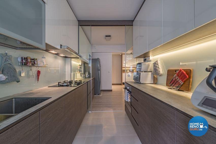 Modern, Scandinavian Design - Kitchen - HDB 5 Room - Design by Posh Living Interior Design Pte Ltd