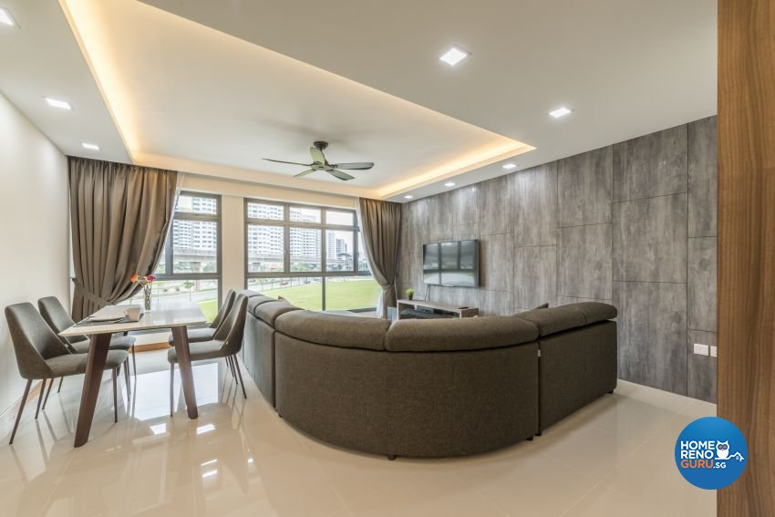 Minimalist, Modern Design - Living Room - HDB 5 Room - Design by Posh Living Interior Design Pte Ltd
