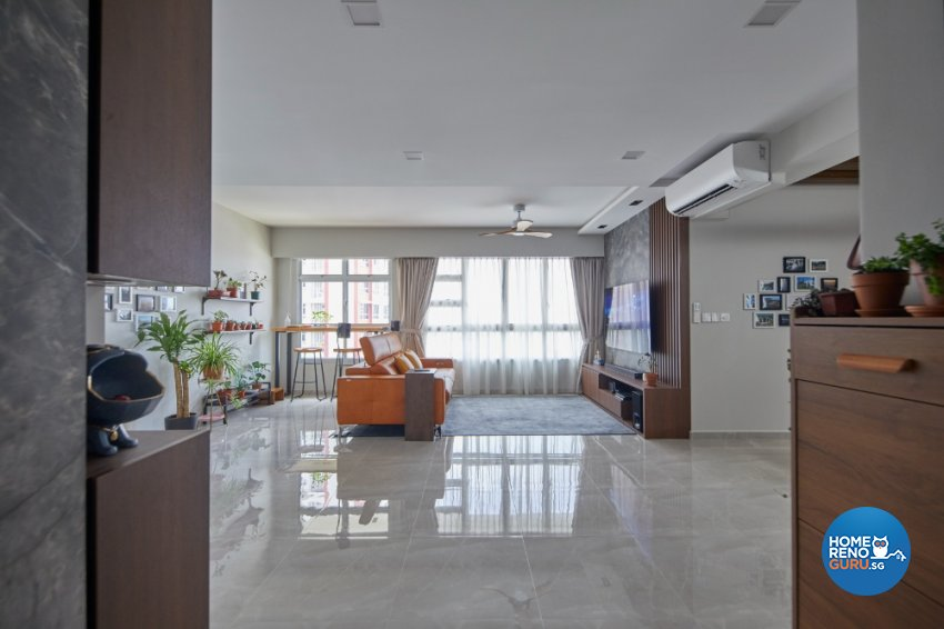 Contemporary, Modern Design - Living Room - HDB 5 Room - Design by PRDT Pte Ltd