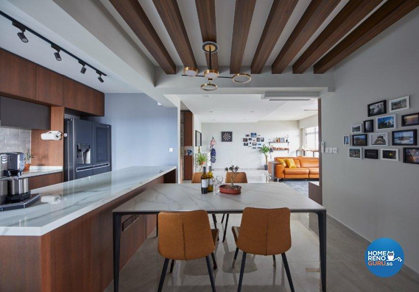 Contemporary, Modern Design - Kitchen - HDB 5 Room - Design by PRDT Pte Ltd