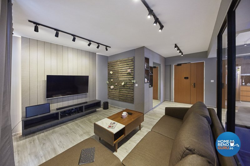 Contemporary, Eclectic, Modern Design - Living Room - HDB 4 Room - Design by Productions Pte Ltd