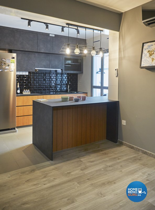 Contemporary, Eclectic, Modern Design - Kitchen - HDB 4 Room - Design by Productions Pte Ltd