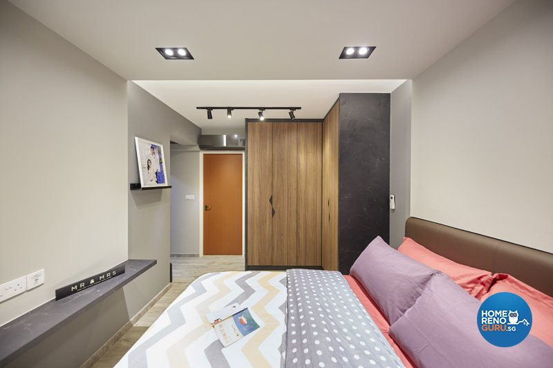 Contemporary, Eclectic, Modern Design - Bedroom - HDB 4 Room - Design by Productions Pte Ltd