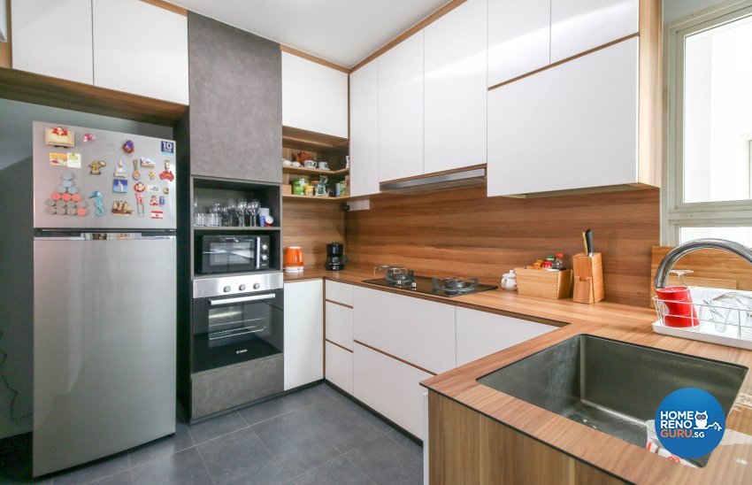 Contemporary, Industrial, Modern Design - Kitchen - HDB 4 Room - Design by Productions Pte Ltd