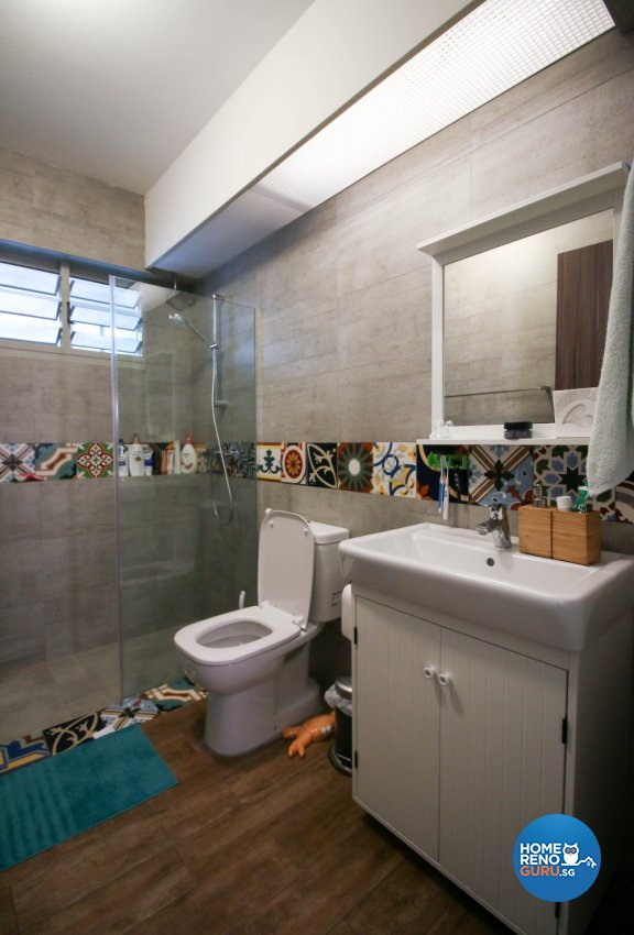 Contemporary, Industrial, Modern Design - Bathroom - HDB 4 Room - Design by Productions Pte Ltd