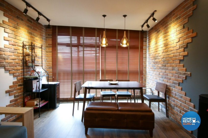 Contemporary, Industrial, Modern Design - Dining Room - HDB 4 Room - Design by Productions Pte Ltd