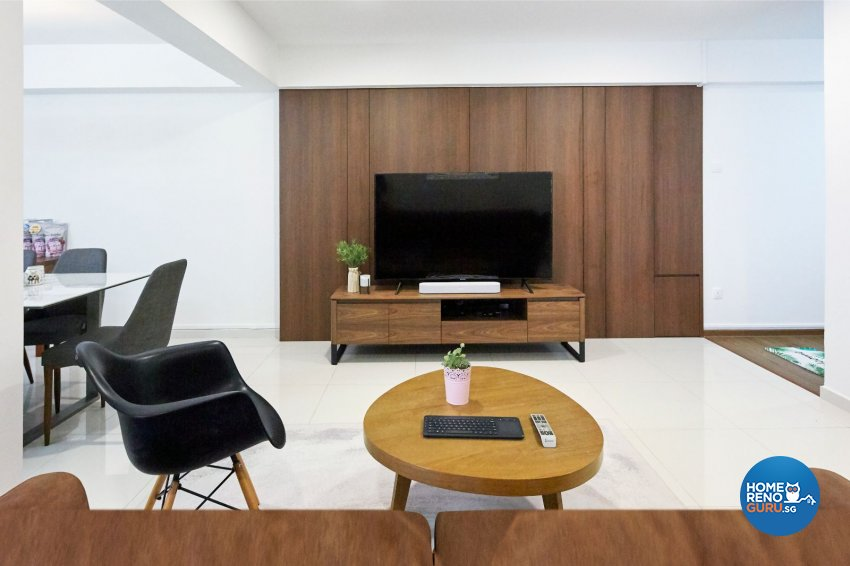 Contemporary, Eclectic, Modern Design - Living Room - HDB 5 Room - Design by Productions Pte Ltd