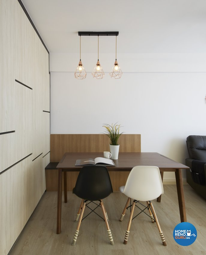 Contemporary, Modern Design - Dining Room - HDB 4 Room - Design by Productions Pte Ltd