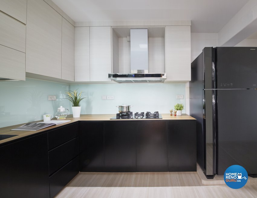 Contemporary, Modern Design - Kitchen - HDB 4 Room - Design by Productions Pte Ltd