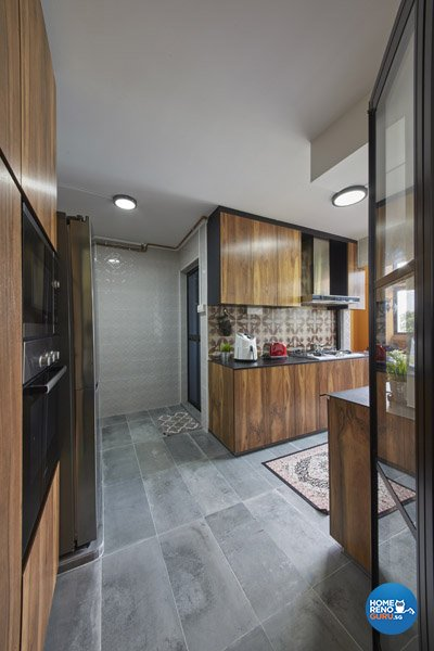 Contemporary, Modern Design - Kitchen - HDB Executive Apartment - Design by Productions Pte Ltd