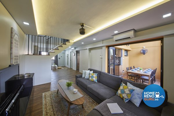 Contemporary, Modern Design - Living Room - HDB Executive Apartment - Design by Productions Pte Ltd