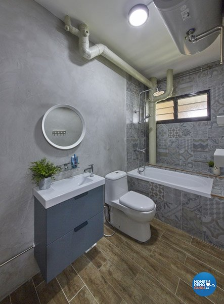 Contemporary, Modern Design - Bathroom - HDB Executive Apartment - Design by Productions Pte Ltd