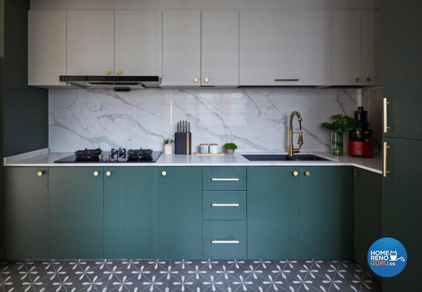 Minimalist, Modern Design - Kitchen - HDB Executive Apartment - Design by PRDT Pte Ltd