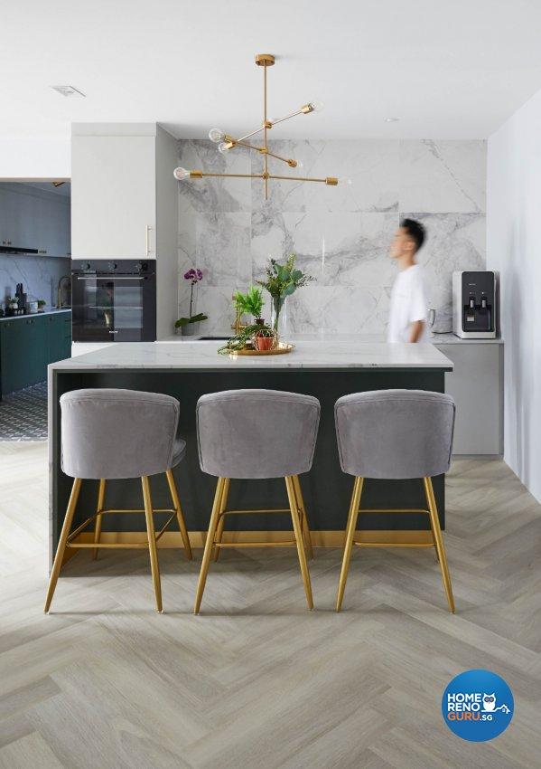 Minimalist, Modern Design - Dining Room - HDB Executive Apartment - Design by PRDT Pte Ltd