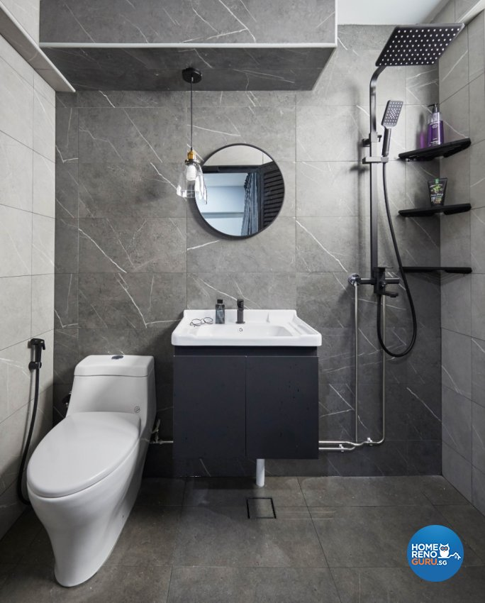 Minimalist, Modern Design - Bathroom - HDB Executive Apartment - Design by PRDT Pte Ltd