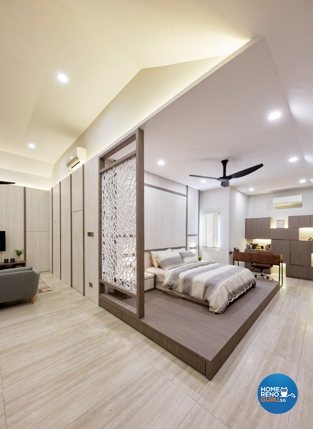 Classical, Contemporary, Modern Design - Bedroom - Landed House - Design by Productions Pte Ltd