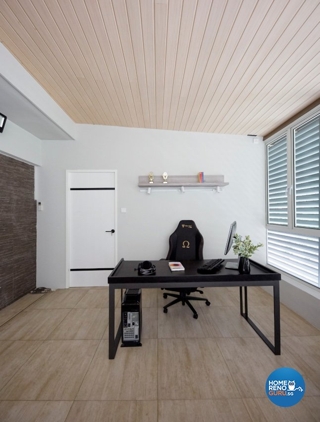 Classical, Contemporary, Modern Design - Study Room - Landed House - Design by Productions Pte Ltd