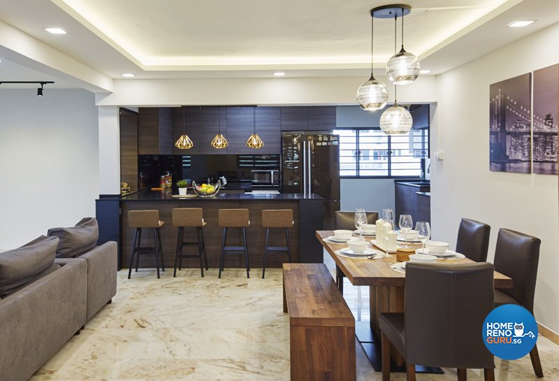 Contemporary, Modern, Scandinavian Design - Dining Room - HDB 5 Room - Design by Productions Pte Ltd