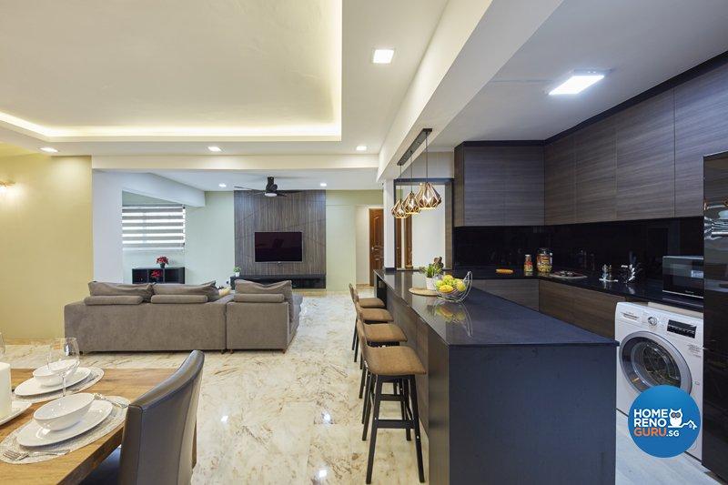 Contemporary, Modern, Scandinavian Design - Kitchen - HDB 5 Room - Design by Productions Pte Ltd