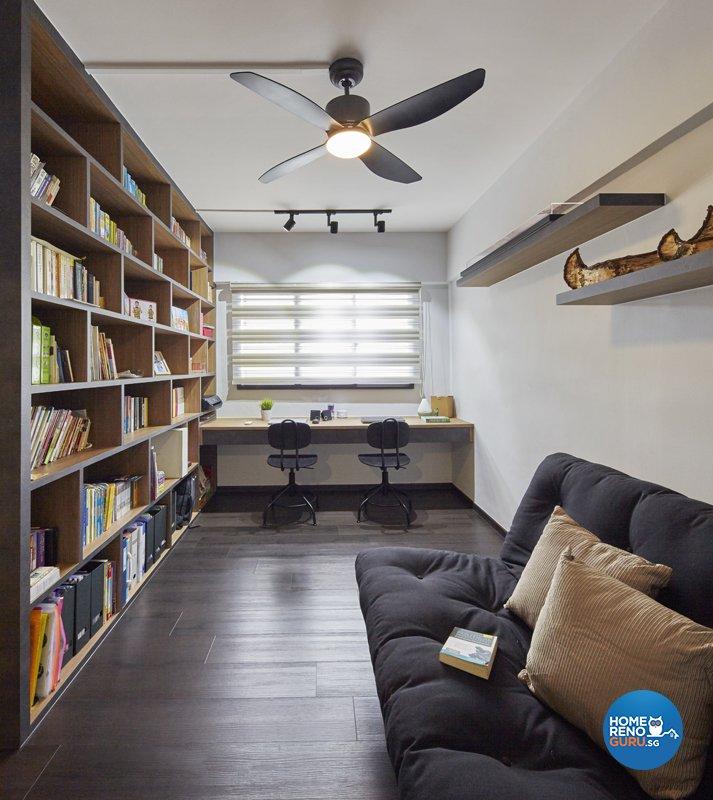 Contemporary, Modern, Scandinavian Design - Study Room - HDB 5 Room - Design by Productions Pte Ltd