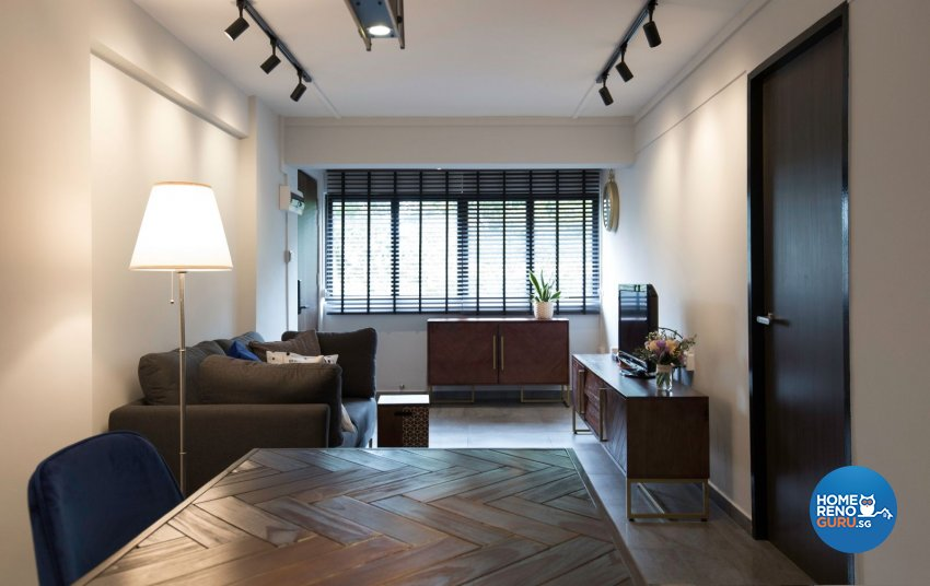 Eclectic, Industrial, Modern Design - Living Room - HDB 3 Room - Design by Productions Pte Ltd