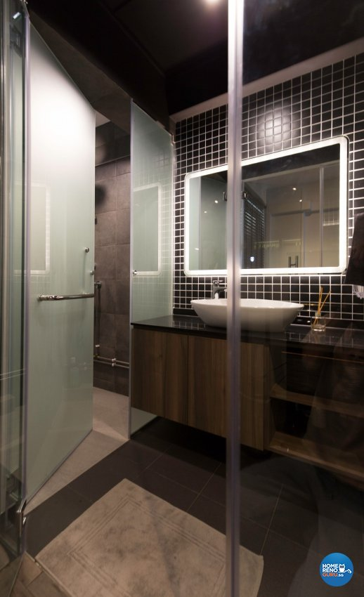 Eclectic, Industrial, Modern Design - Bathroom - HDB 3 Room - Design by Productions Pte Ltd
