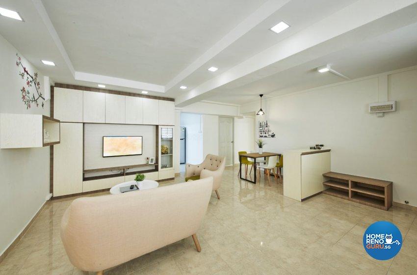 Eclectic, Modern, Scandinavian Design - Living Room - HDB 5 Room - Design by Productions Pte Ltd