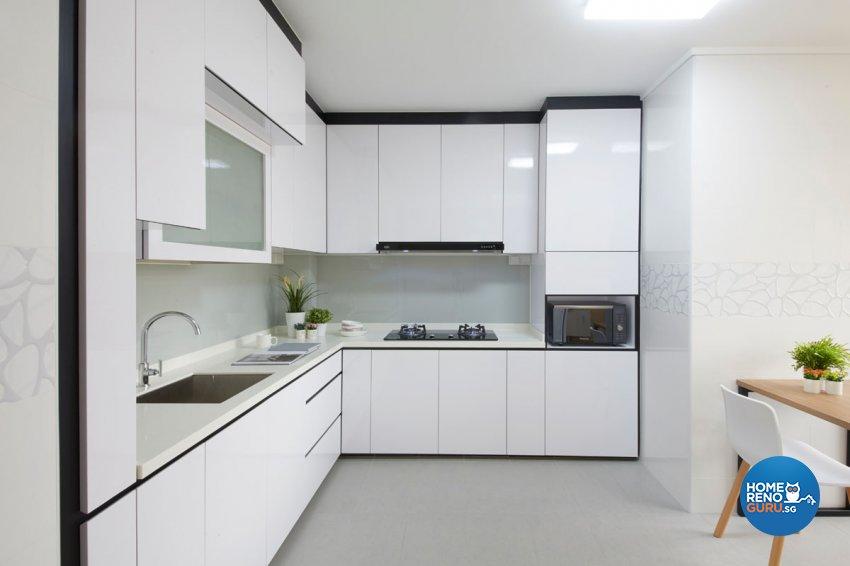 Eclectic, Modern, Scandinavian Design - Kitchen - HDB 5 Room - Design by Productions Pte Ltd