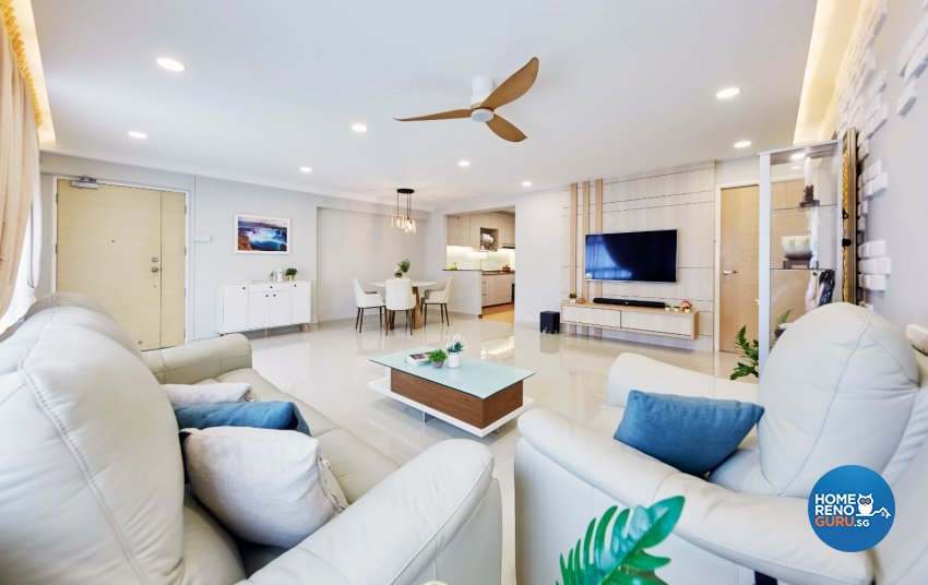 Contemporary, Modern, Scandinavian Design - Living Room - HDB 5 Room - Design by Productions Pte Ltd
