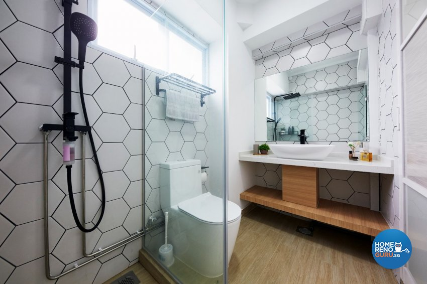 Contemporary, Modern, Scandinavian Design - Bathroom - HDB 5 Room - Design by Productions Pte Ltd