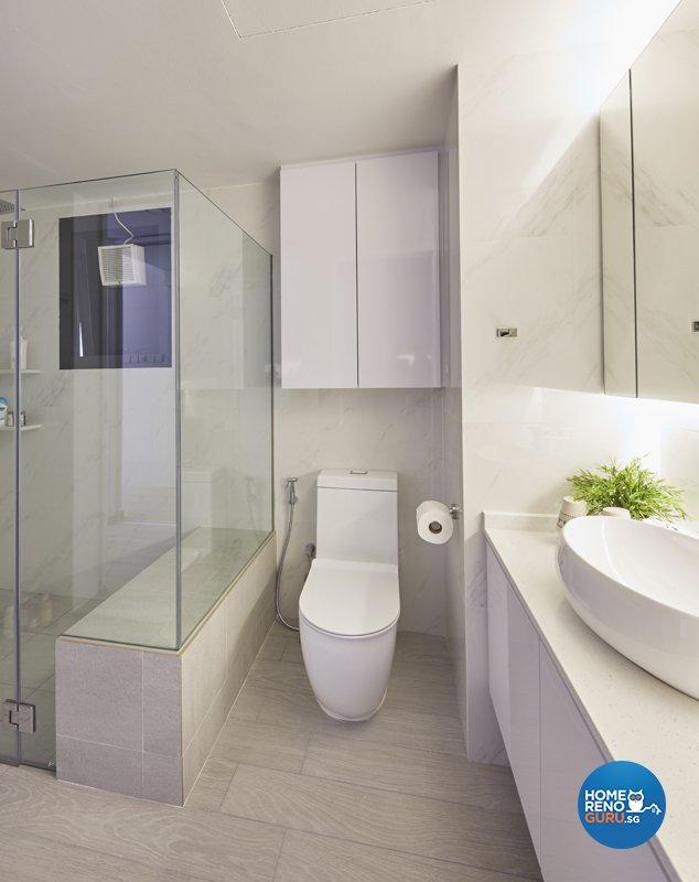 Classical, Minimalist, Modern Design - Bathroom - Condominium - Design by Productions Pte Ltd