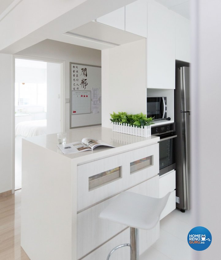 Minimalist, Modern Design - Dining Room - HDB Executive Apartment - Design by Productions Pte Ltd