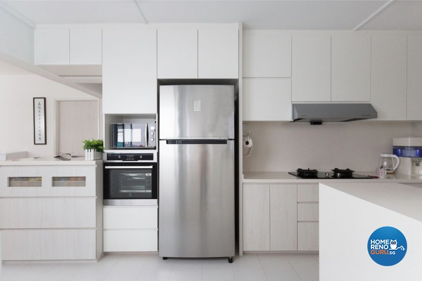 Minimalist, Modern Design - Kitchen - HDB Executive Apartment - Design by Productions Pte Ltd