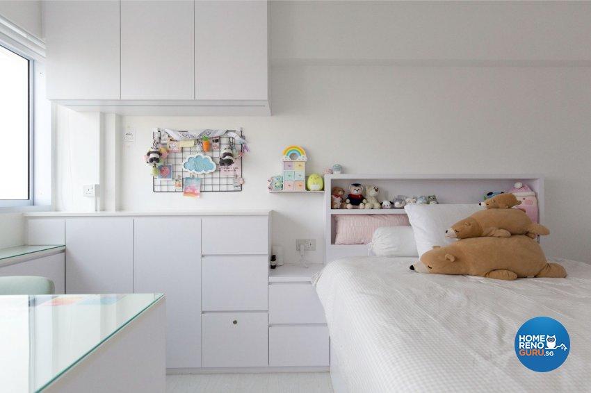 Minimalist, Modern Design - Bedroom - HDB Executive Apartment - Design by Productions Pte Ltd