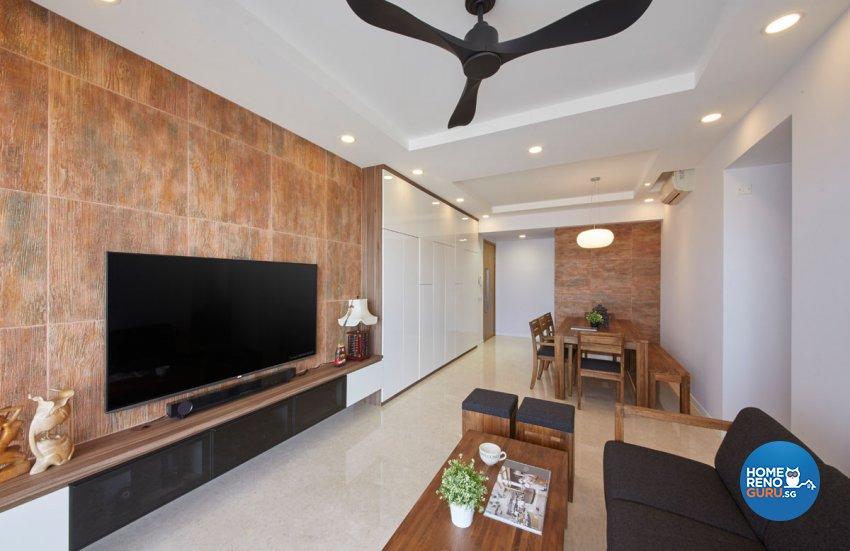Classical, Contemporary Design - Living Room - Condominium - Design by Productions Pte Ltd