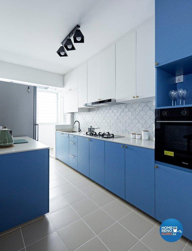 Eclectic, Modern, Scandinavian Design - Kitchen - HDB 4 Room - Design by Productions Pte Ltd
