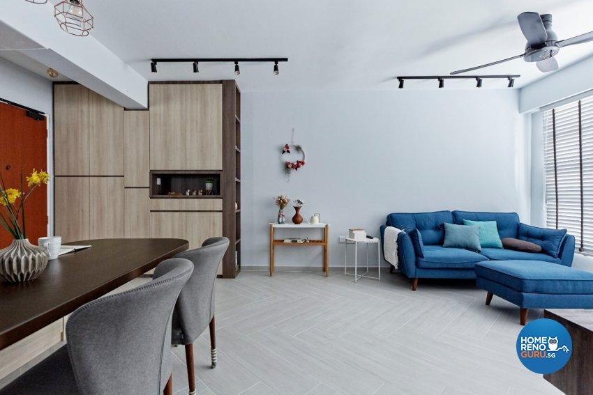 Eclectic, Modern, Scandinavian Design - Living Room - HDB 4 Room - Design by Productions Pte Ltd