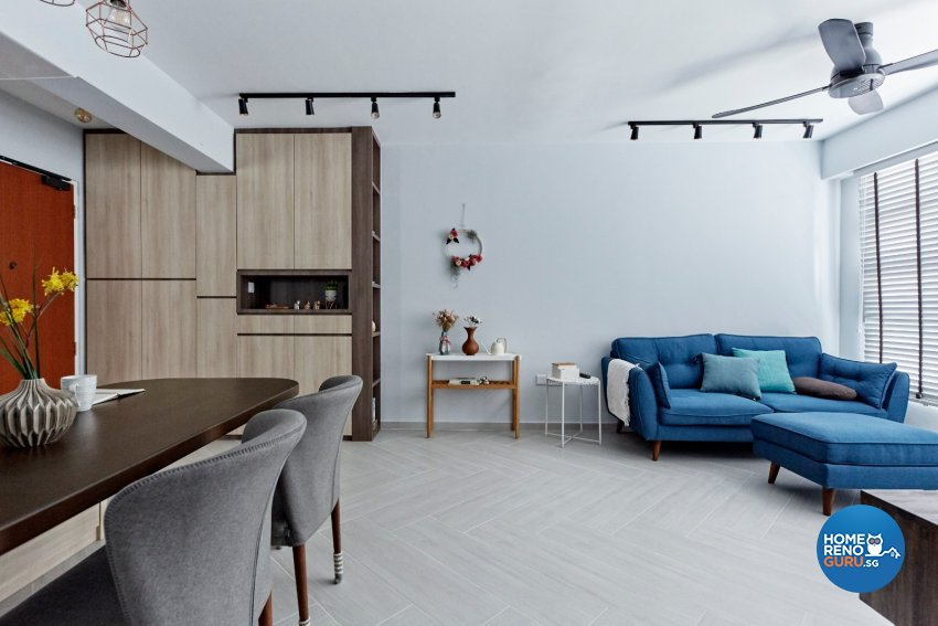 Eclectic, Modern, Scandinavian Design - Living Room - HDB 4 Room - Design by Productions Pte Ltd