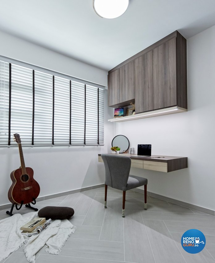 Eclectic, Modern, Scandinavian Design - Study Room - HDB 4 Room - Design by Productions Pte Ltd
